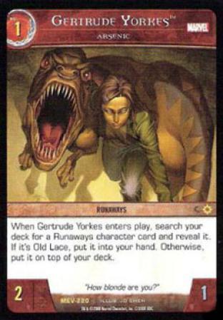Gertrude Yorkes, Arsenic