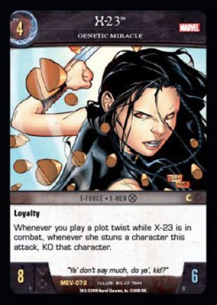 X-23, Genetic Miracle