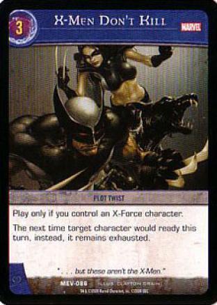 X-Men Don't Kill