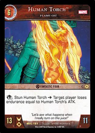 Human Torch, Flame On!