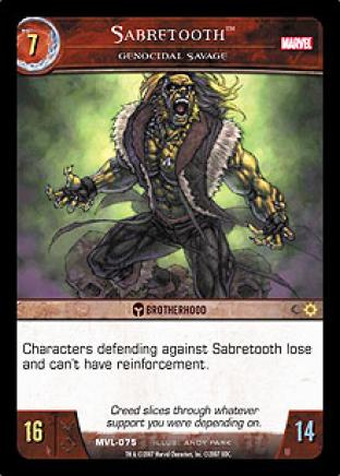 Sabretooth, Genocidal Savage