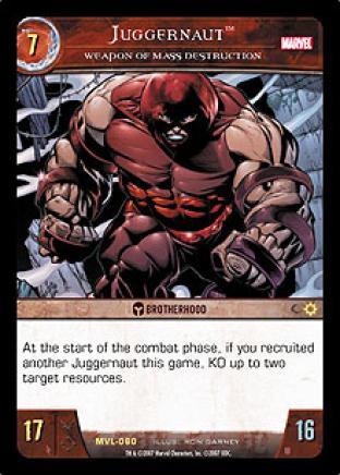 Juggernaut, Weapon of Mass Destruction
