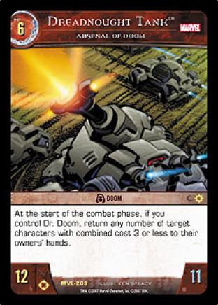 Dreadnought Tank, Arsenal of Doom