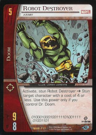 Robot Destroyer, Army