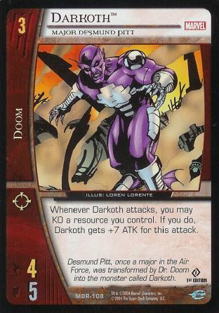 Darkoth, Major Desmund Pitt
