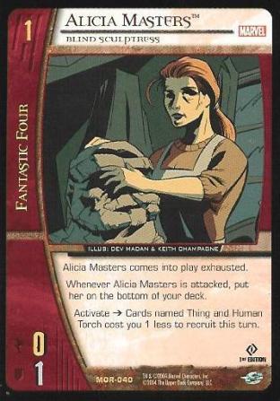 Alicia Masters, Blind Sculptress