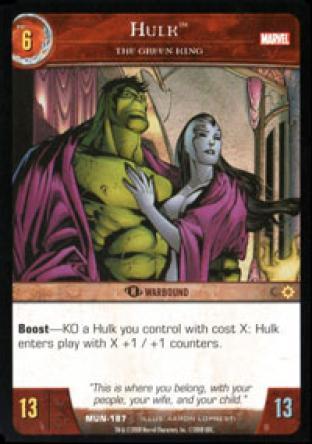 Hulk, The Green King