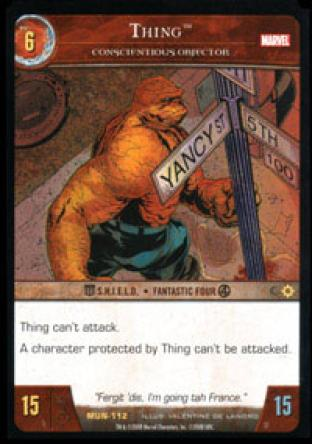 Thing, Conscientious Objector