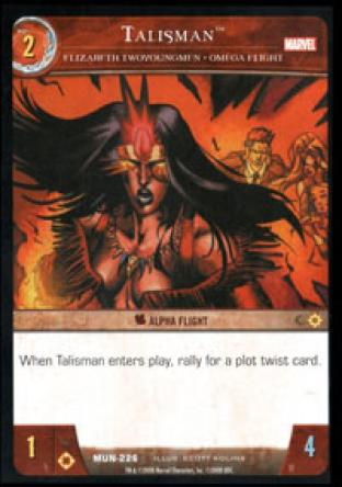 Talisman, Elizabeth Twoyoungmen - Omega Flight