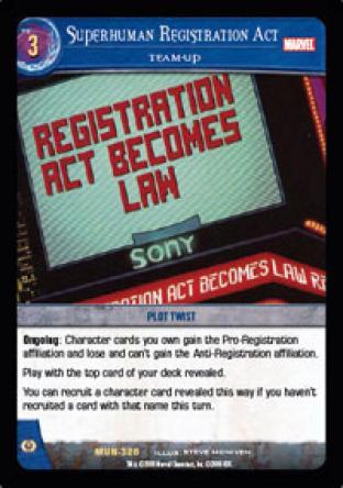 Superhuman Registration Act, Team-Up