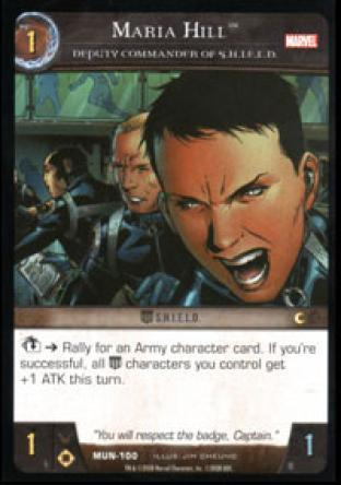 Maria Hill, Deputy Commander of S.H.I.E.L.D.