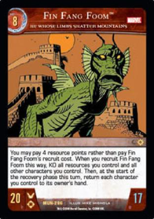Fin Fang Foom, He Whose Limbs Shatter Mountains
