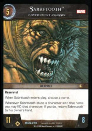 Sabretooth, Government Assassin