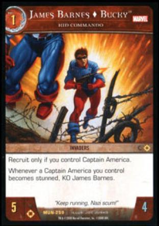 James Barnes, Bucky, Kid Commando