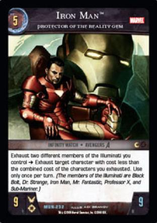 Iron Man, Protector of the Reality Gem