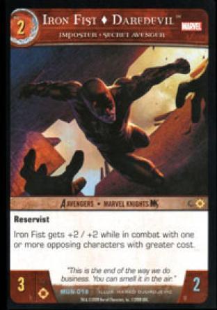 Iron Fist, Daredevil, Imposter - Secret Avenger