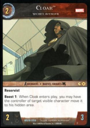 Cloak, Secret Avenger
