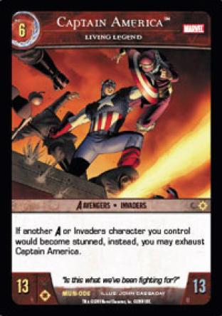 Captain America, Living Legend