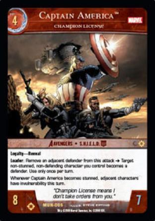 Captain America, Champion License