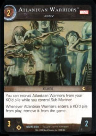 Atlantean Warriors, Army