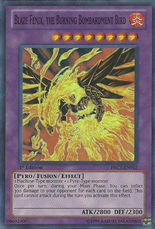 Blaze Fenix, the Burning Bombardment Bird